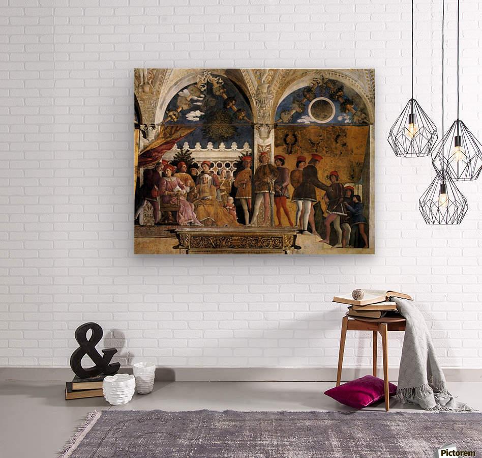 The Court of Mantua  Wood print