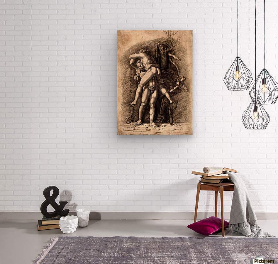 Hercules and Antaeus  Wood print