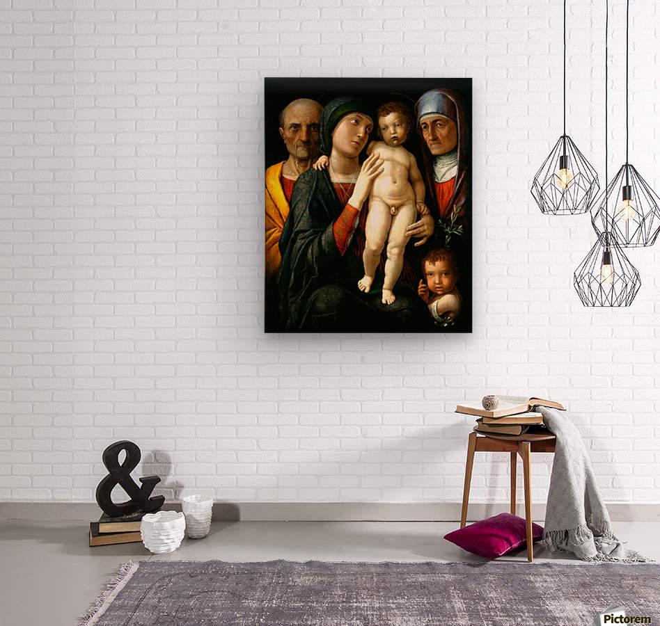 Holy Family with Saints Elizabeth and John the Baptist  Wood print