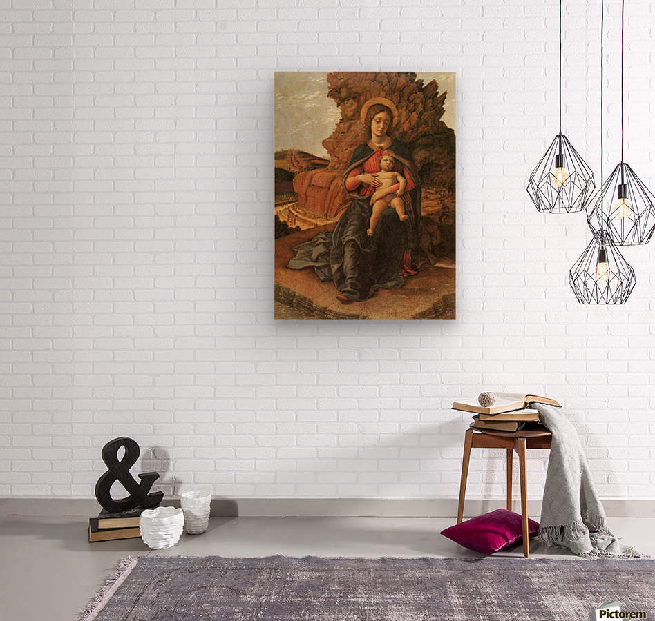 Madonna of the Cave  Wood print