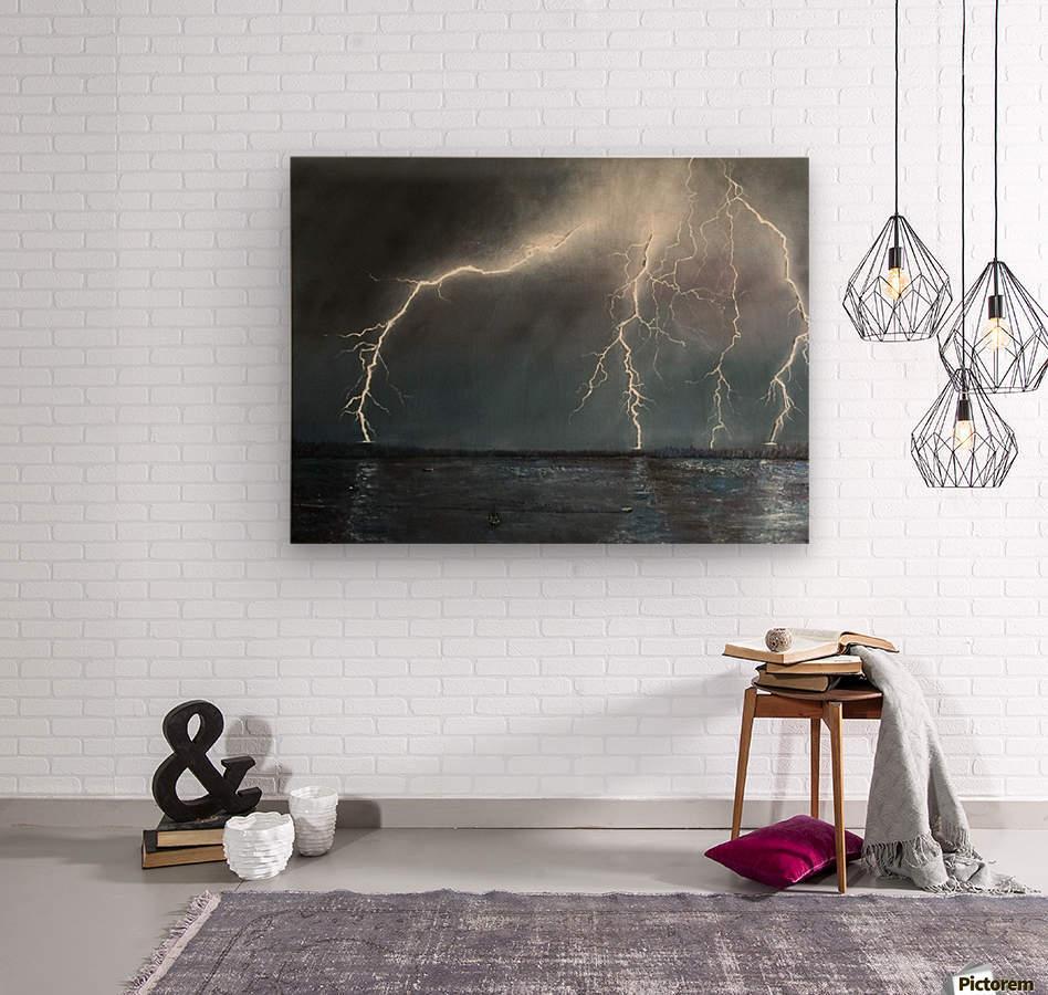 Electric  Wood print