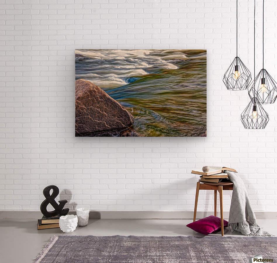 River Flow  Wood print