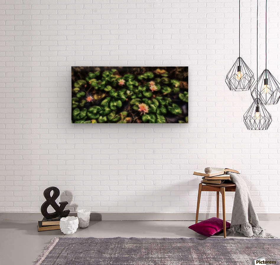 Lillypad  Wood print