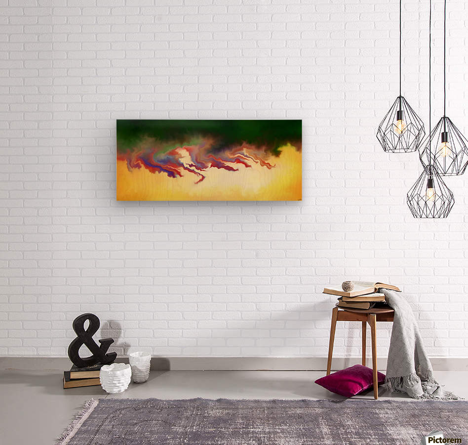 Obadiani V1 - digital abstract  Wood print