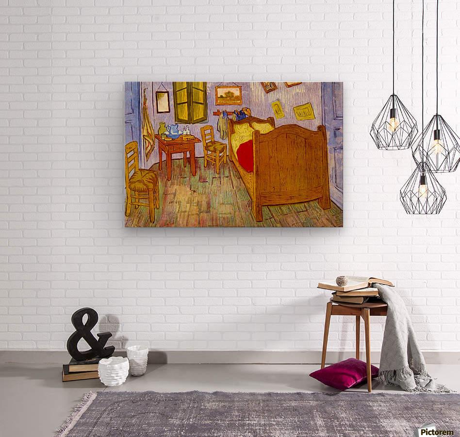 Bedroom at Arles by van Gogh  Wood print