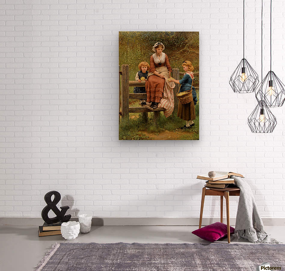 Cowslips  Wood print