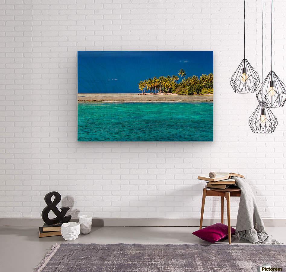 Tropical island background  Wood print