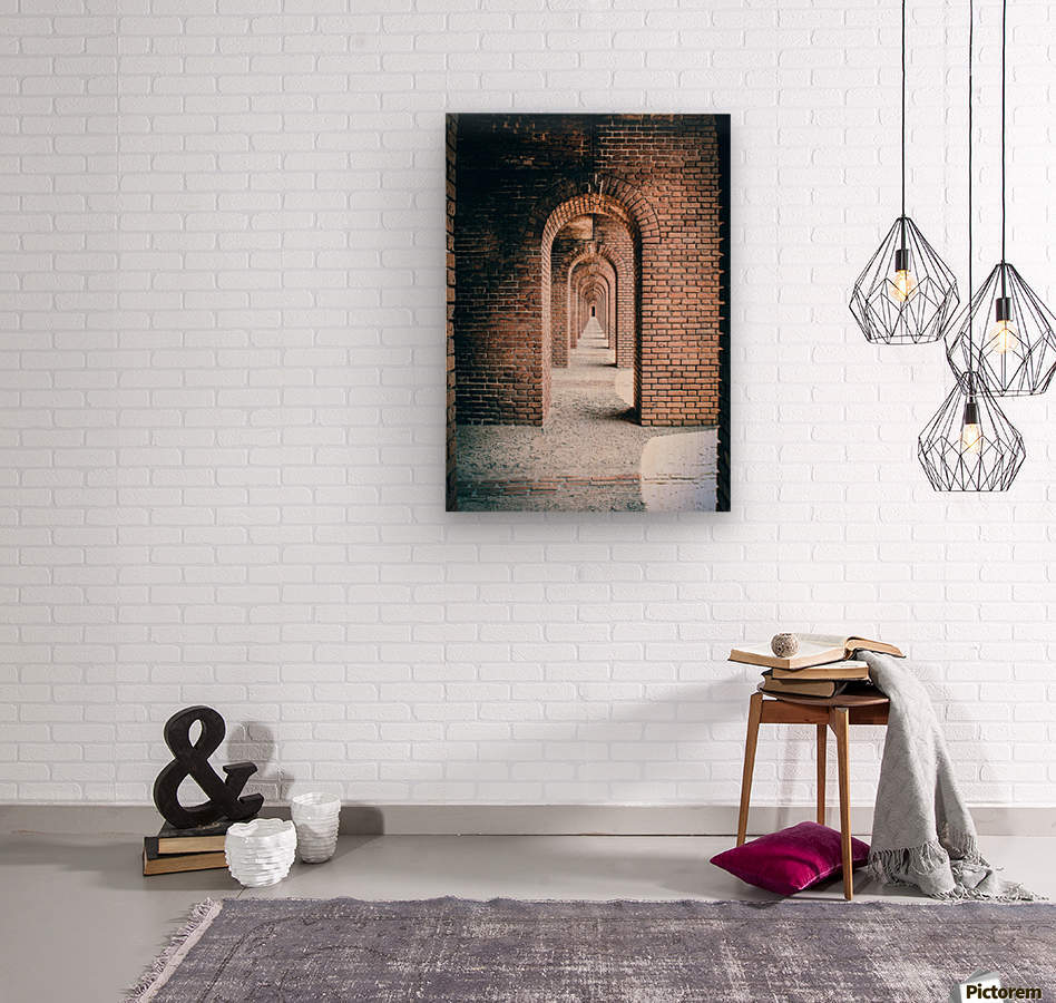 Infinite Arches-Tunnel  Wood print