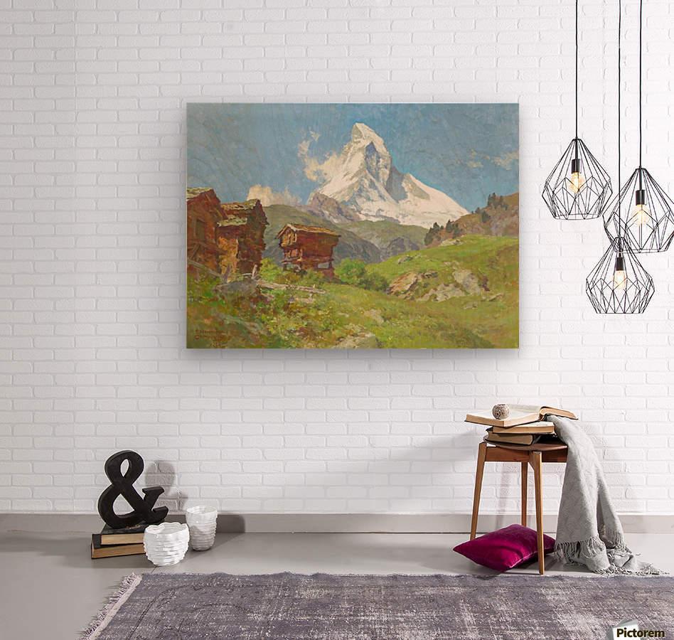 Matterhorn seen from Winkelmatten  Wood print