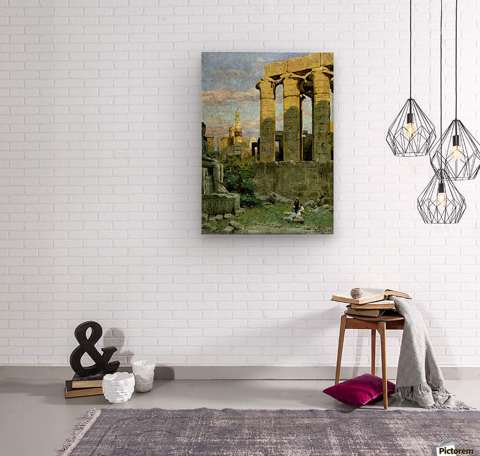 Temple of Luxor, with Abu al Haggag Mosque  Wood print