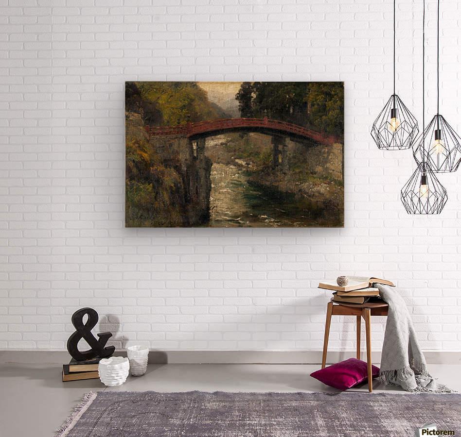 The sacred bridge in Nikko  Wood print
