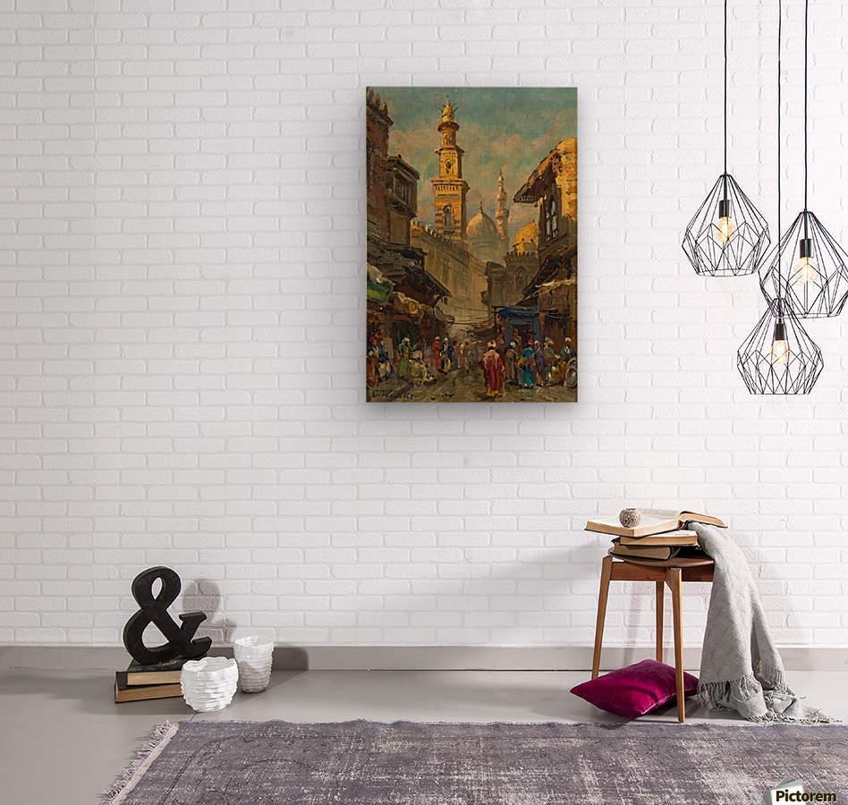 Oriental street scene  Wood print