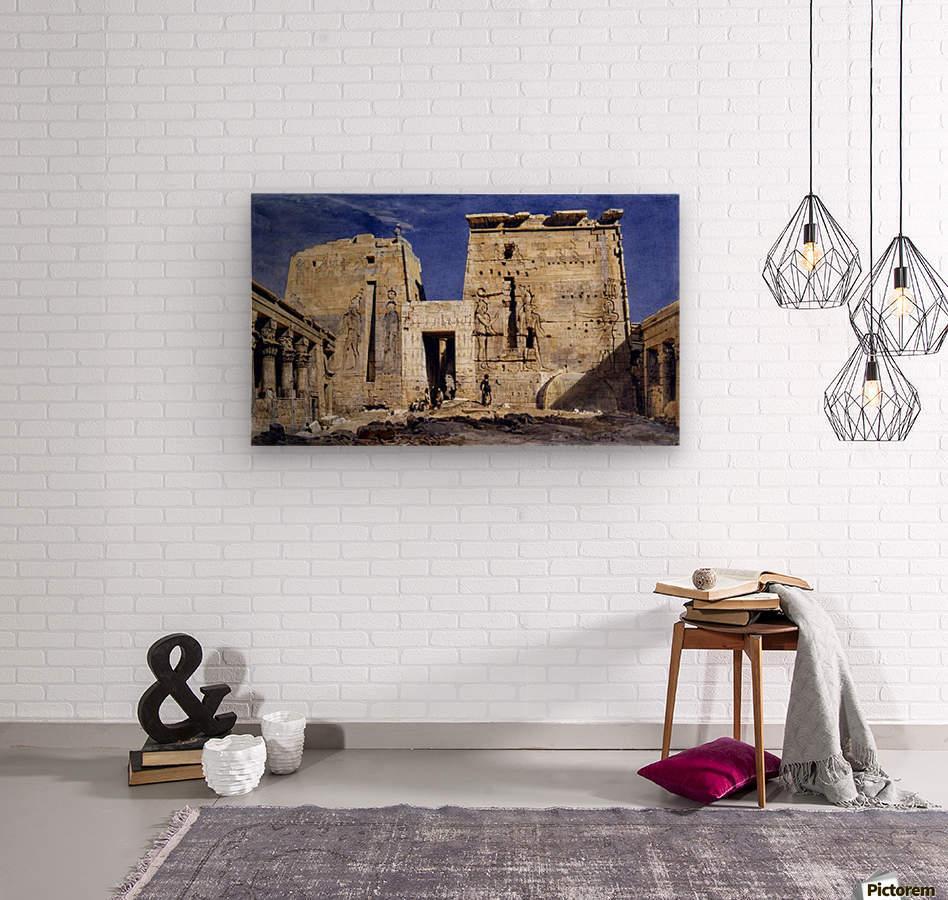 Temple of Isis at Philae  Wood print
