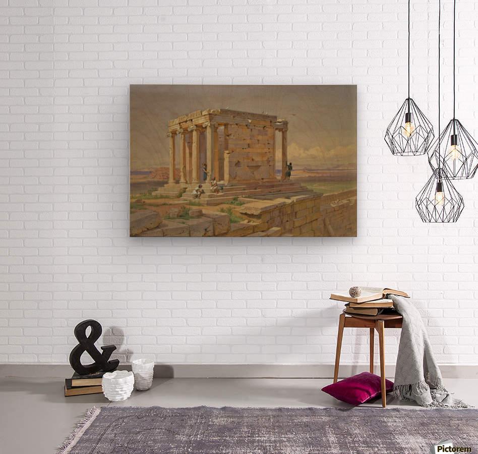 The Temple of Athena Nike  Wood print