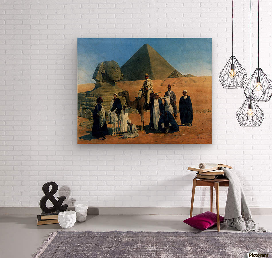 In search of the Pharaohs  Wood print