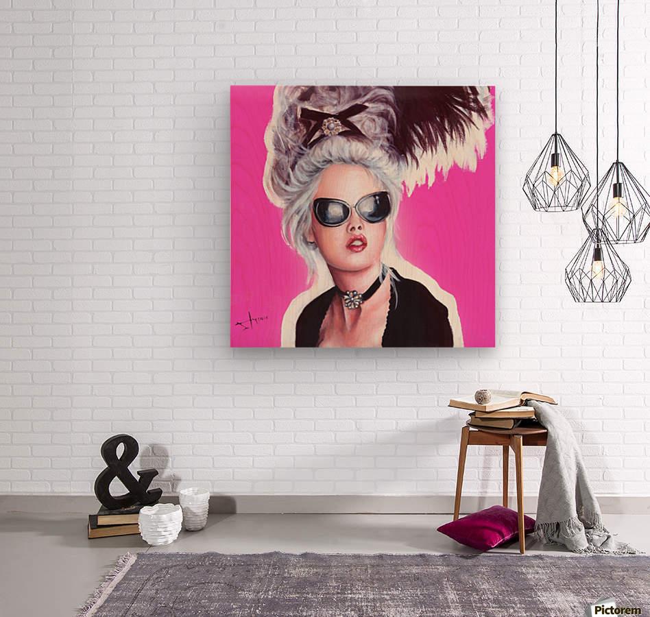 Marie Antoinette inspired art  Wood print