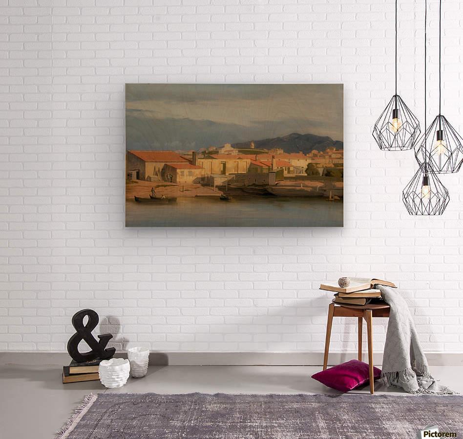 Vue des environs de Marseille  Wood print