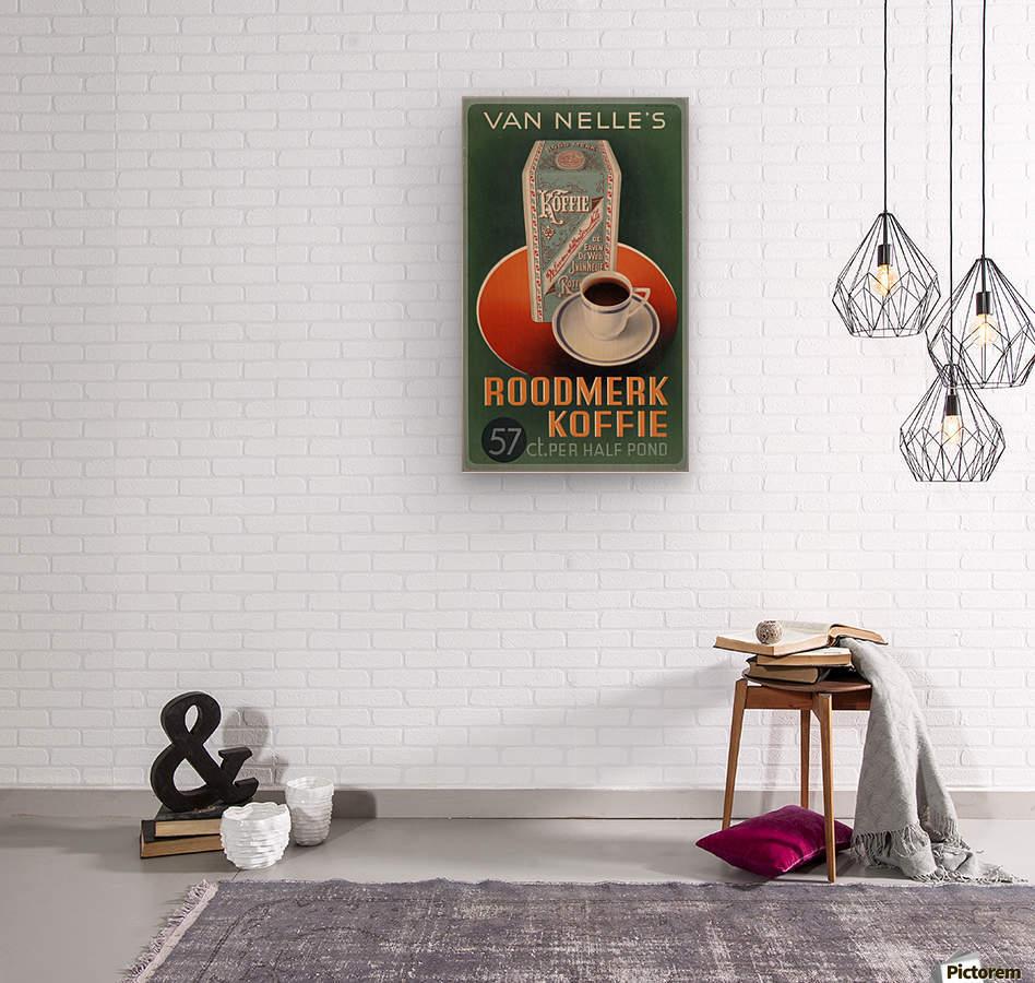 Vintage poster for Van Nelle Roodmerk Koffie  Wood print