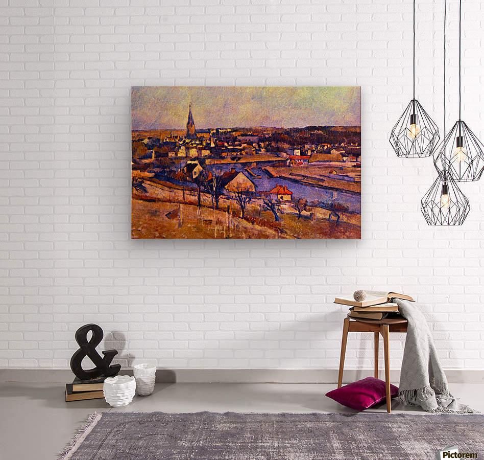 Landscape of Ile de France by Cezanne  Wood print