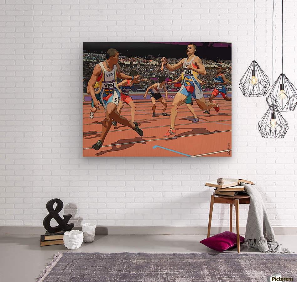 Athletics_04  Wood print