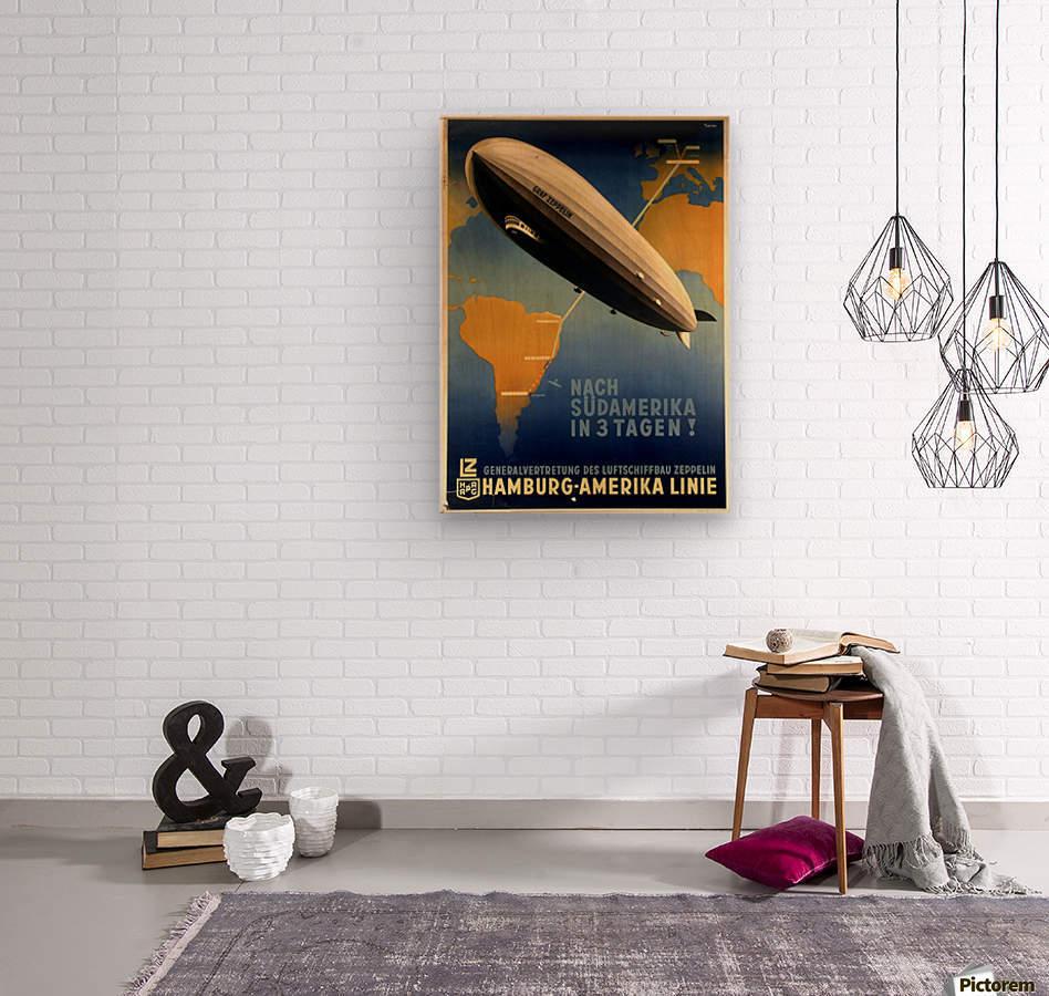 Graf Zeppelin to Argentina  Wood print