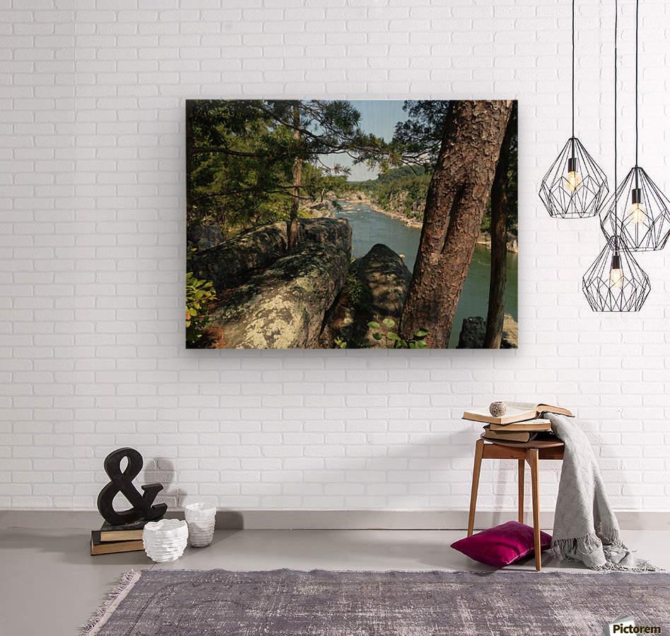 View of the Potomac at Great Falls  Wood print
