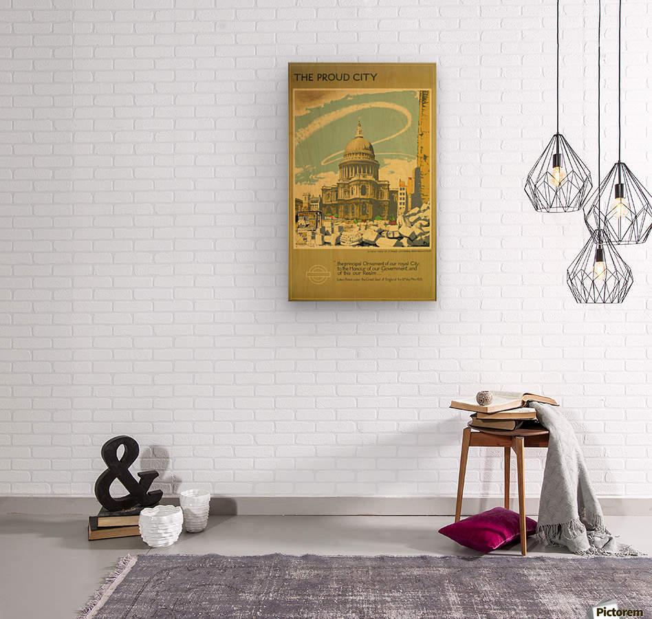 London Underground WW2 vintage poster  Wood print