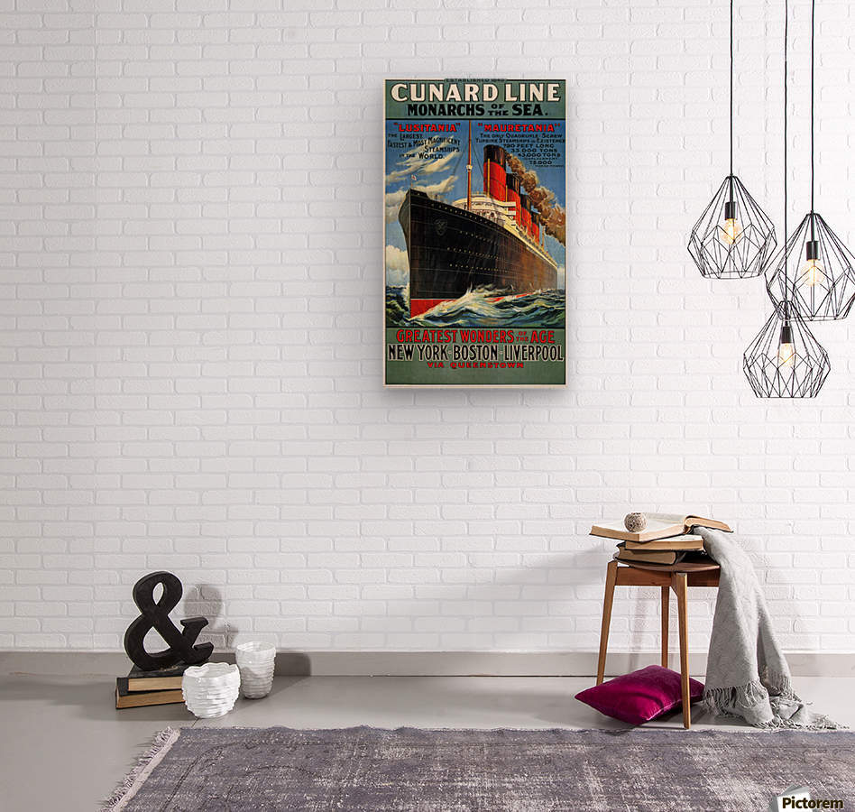Cunard Line Monarchs of the sea vintage poster - VINTAGE POSTER Canvas