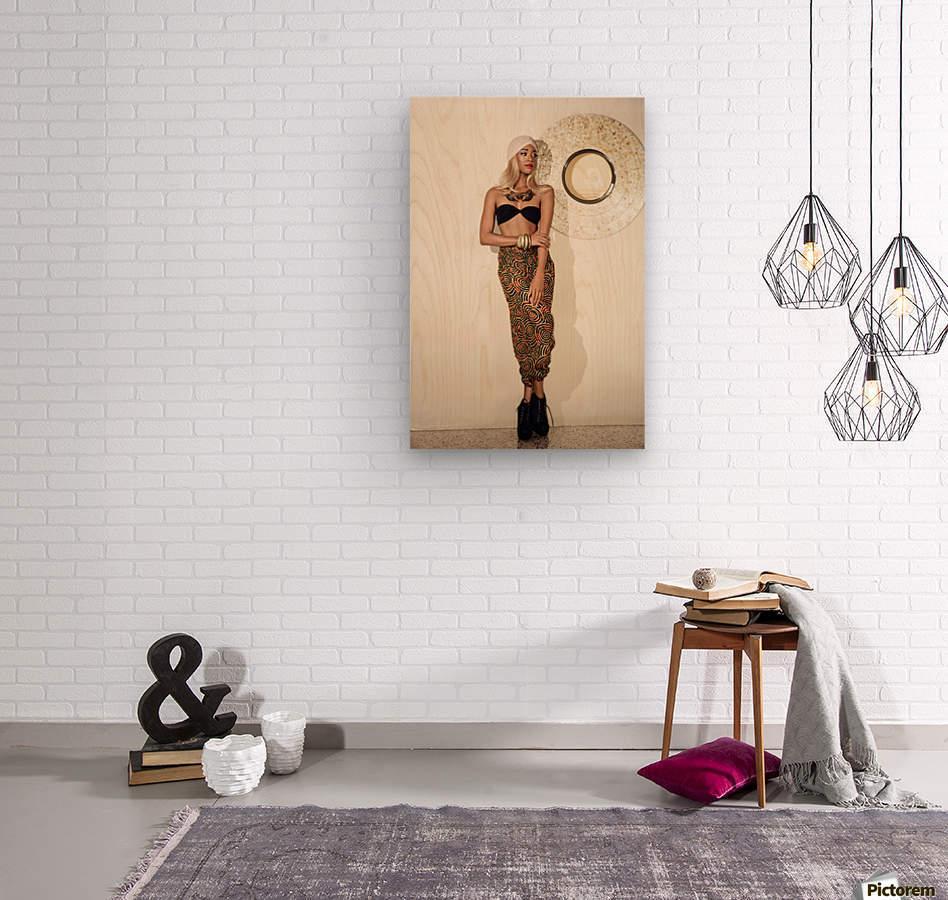 Turbanista  Wood print