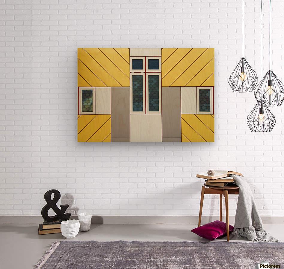 Facade  Wood print