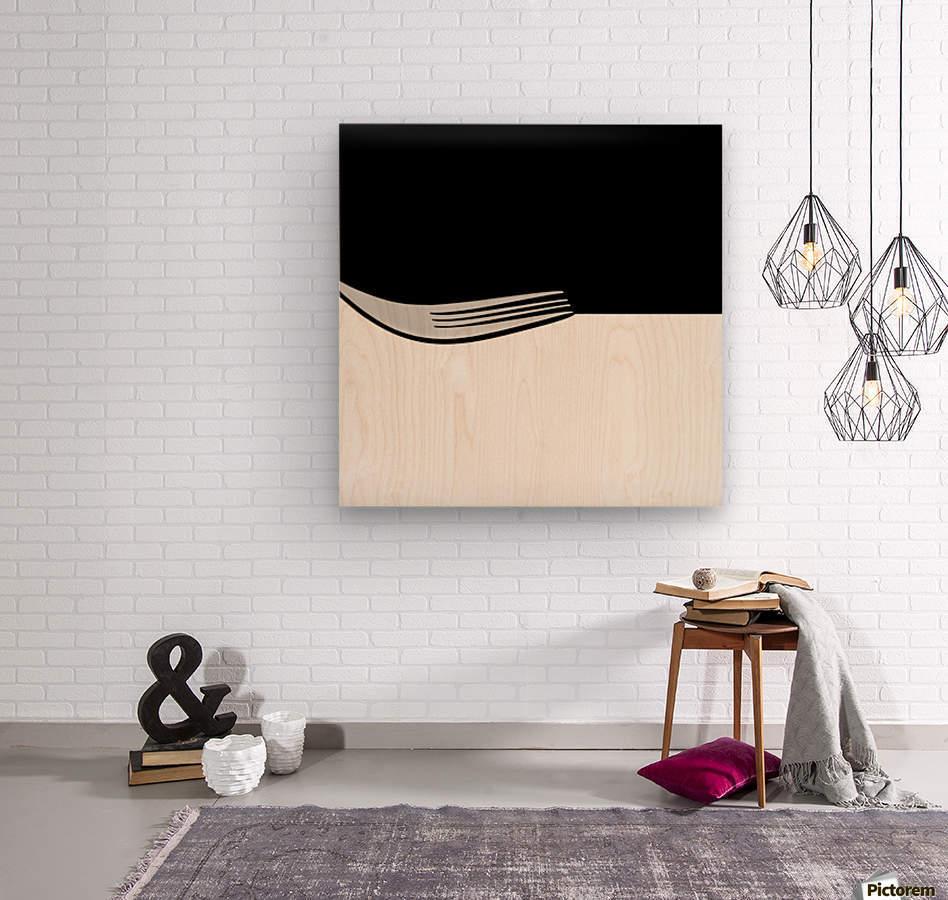 Minimal Abstraction  Wood print