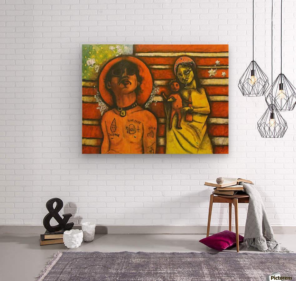 America, Inc.  Wood print