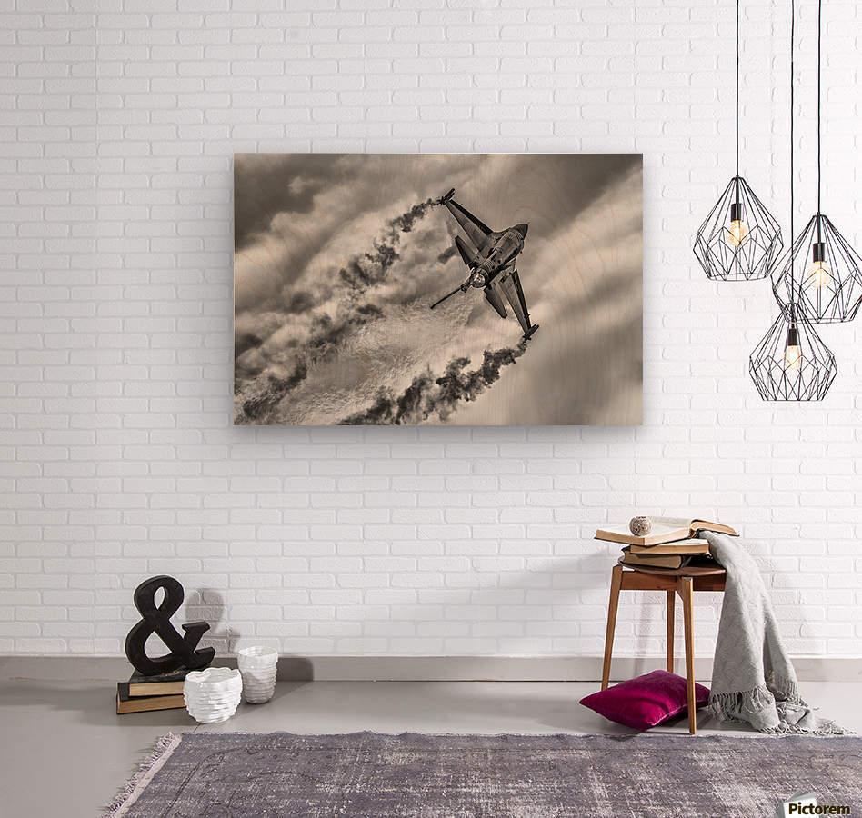 F-16 Solo Turk...  Wood print