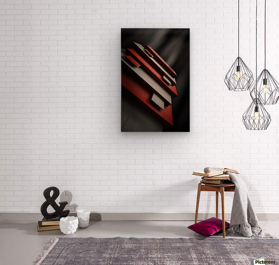 red&white  Wood print
