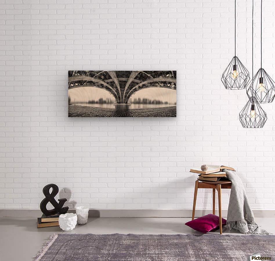 Under The Iron Bridge  Wood print