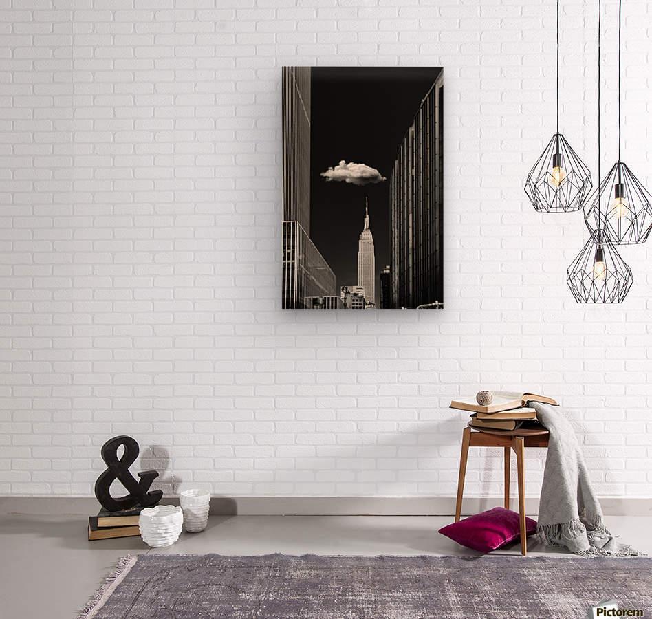 Single Cloud  Wood print