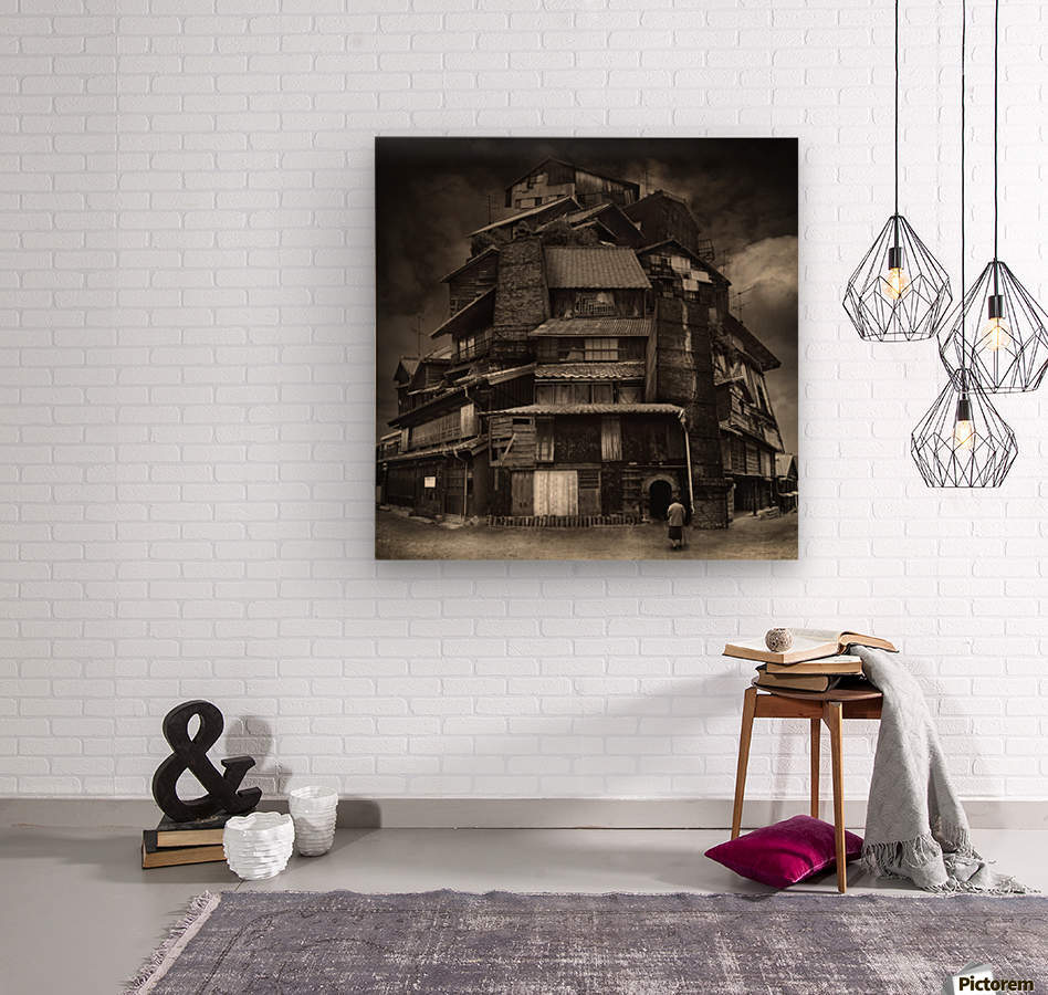 Big old house  Wood print