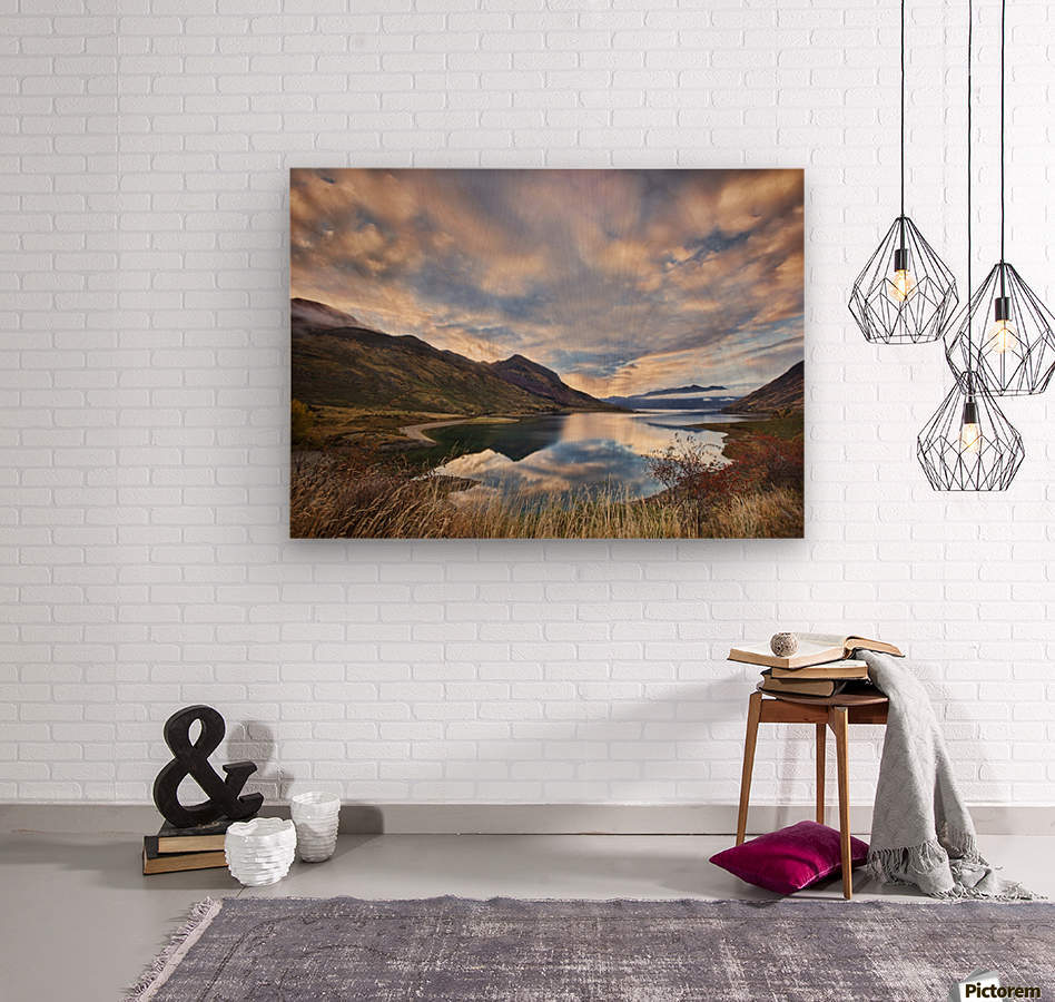 Morning Delight at Lake Hawea  Wood print