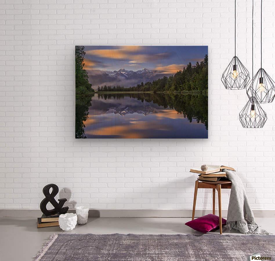 Lake Matheson  Wood print