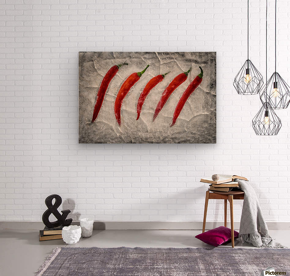 Frozen fire  Wood print