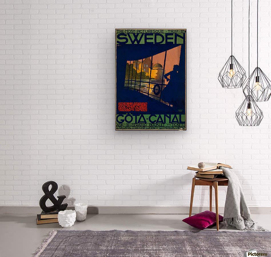 Sweden Gota Canal travel poster  Wood print