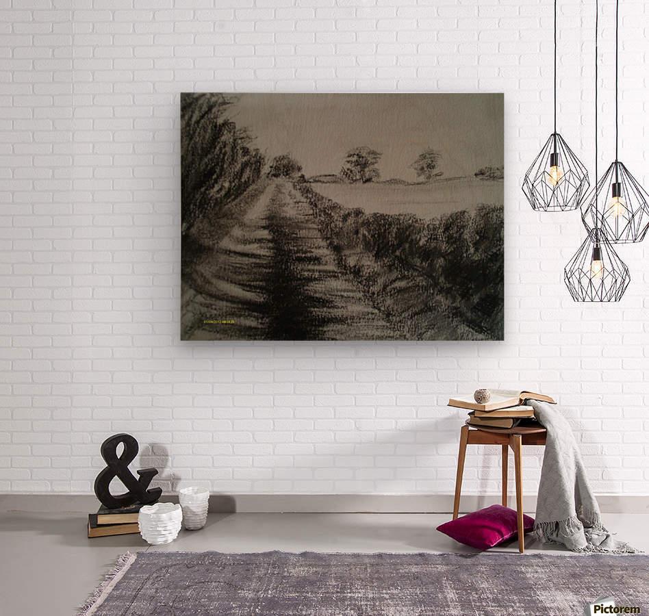 An English Lane  Wood print