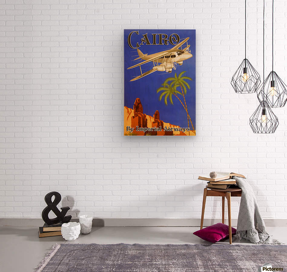 Cairo By Imperial Airways  Wood print