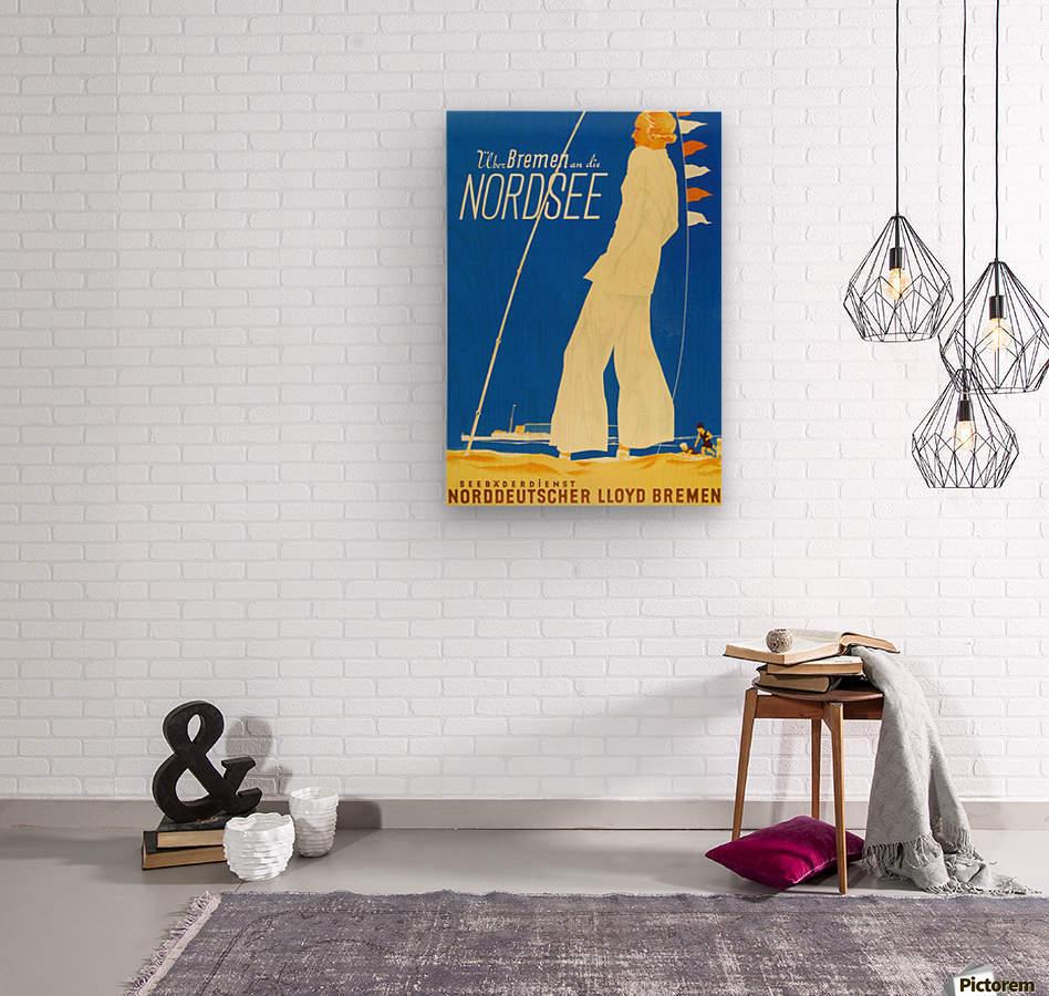 Nordsee vintage German travel poster  Wood print