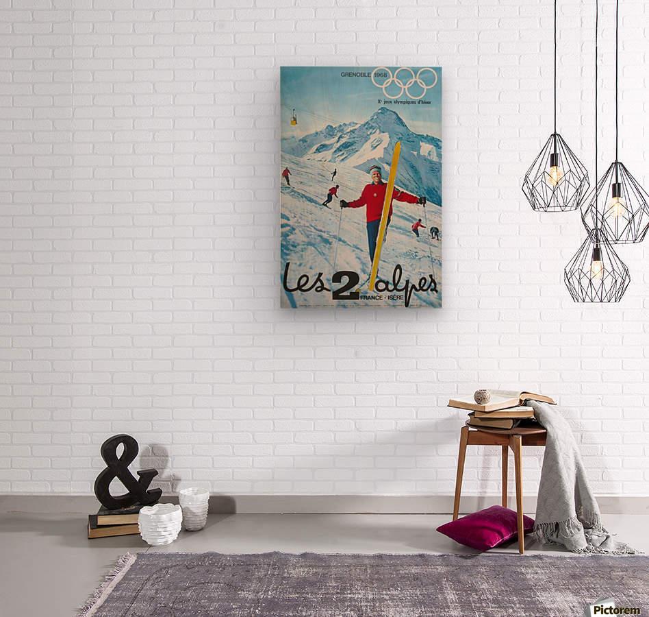 Olimpiade-ski Klasik Vintage Poster  Wood print