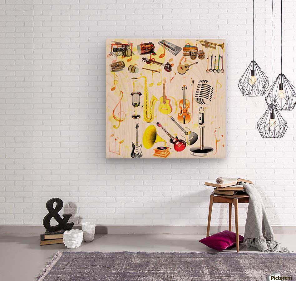 Art229  Impression sur bois