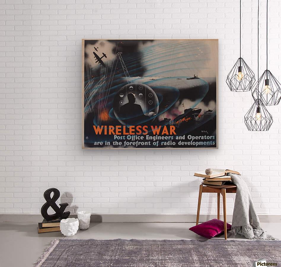 Wireless war  Wood print