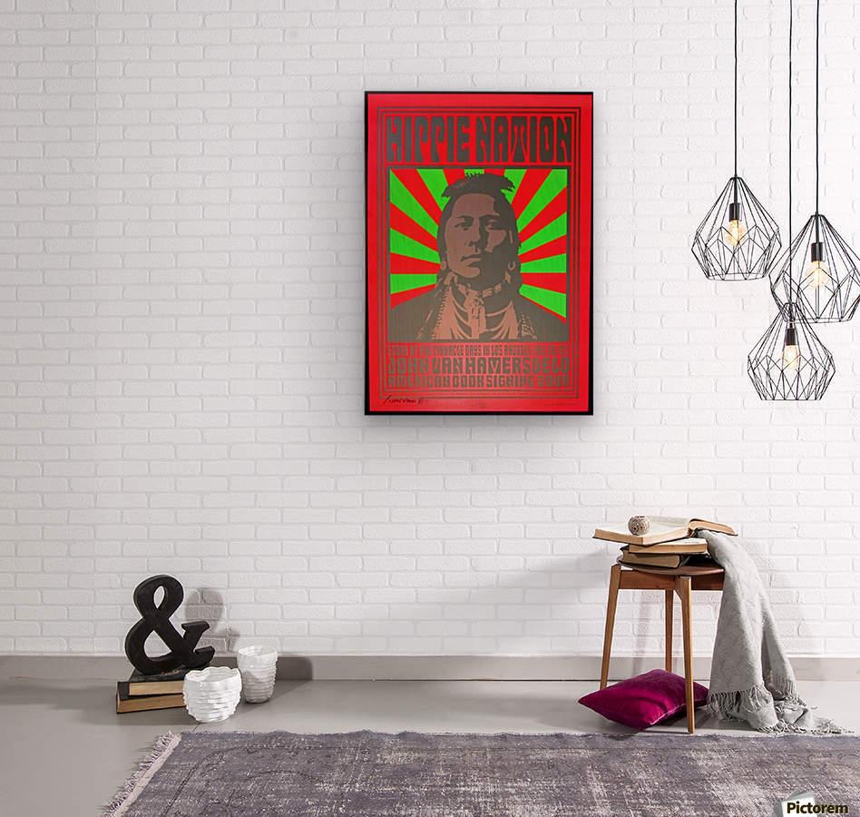 John Van Hamersveld Poster Hippie Nation  Wood print