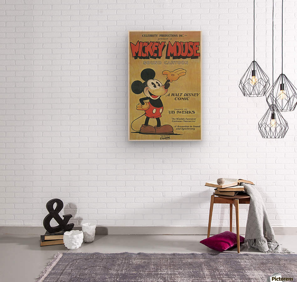 Mickey Mouse Sound Cartoon  Wood print