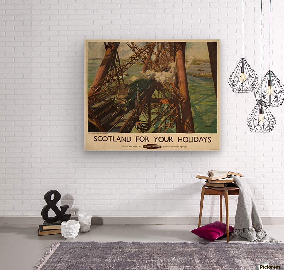 Scotland for your holidays  Wood print